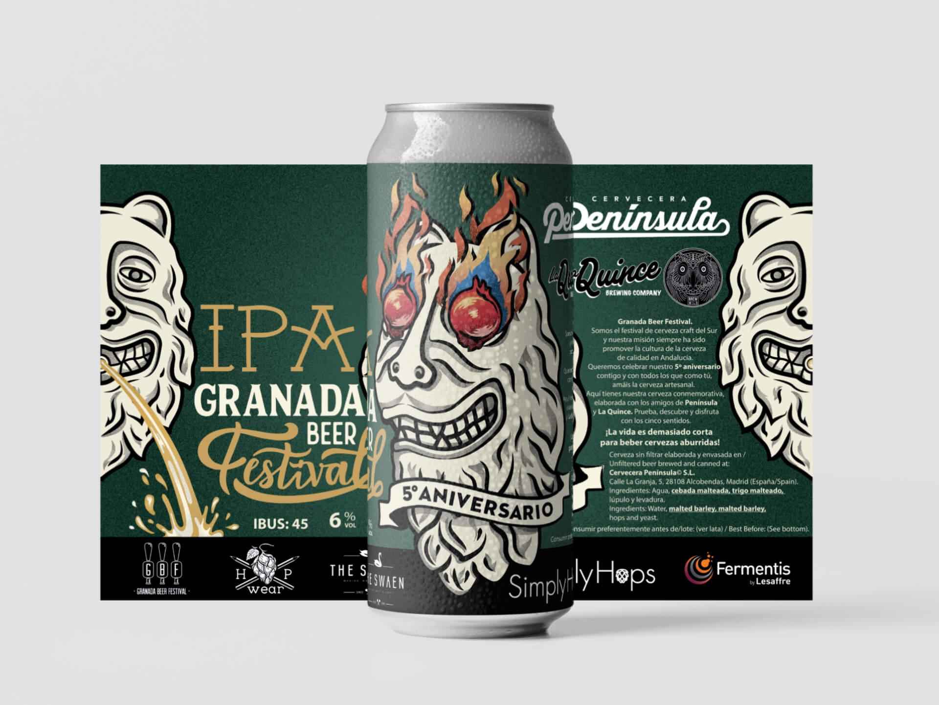Granada Beer Festival Diseño etiquetas 5