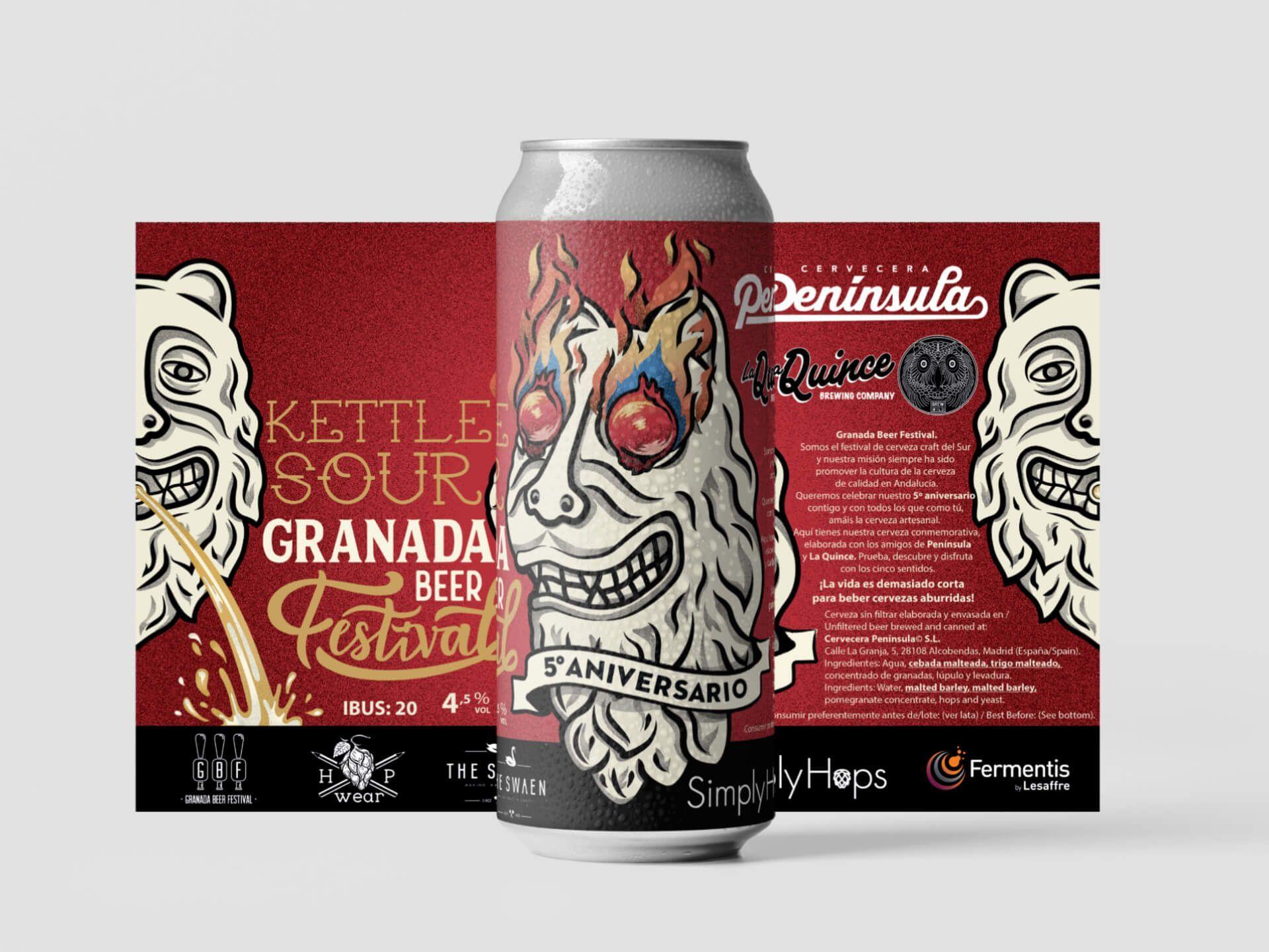 Granada Beer Festival Diseño etiquetas 6