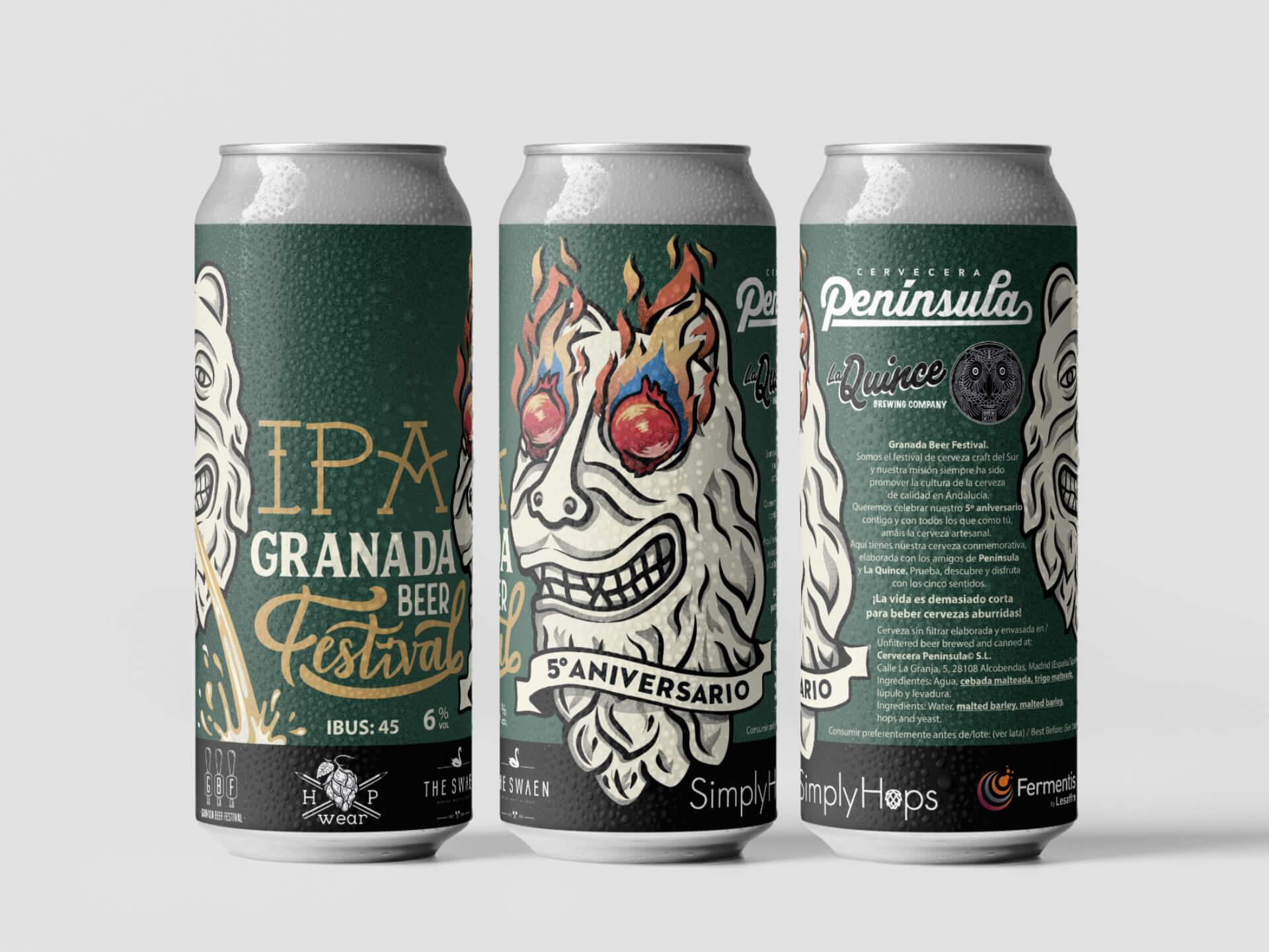 Granada Beer Festival Diseño etiquetas 7