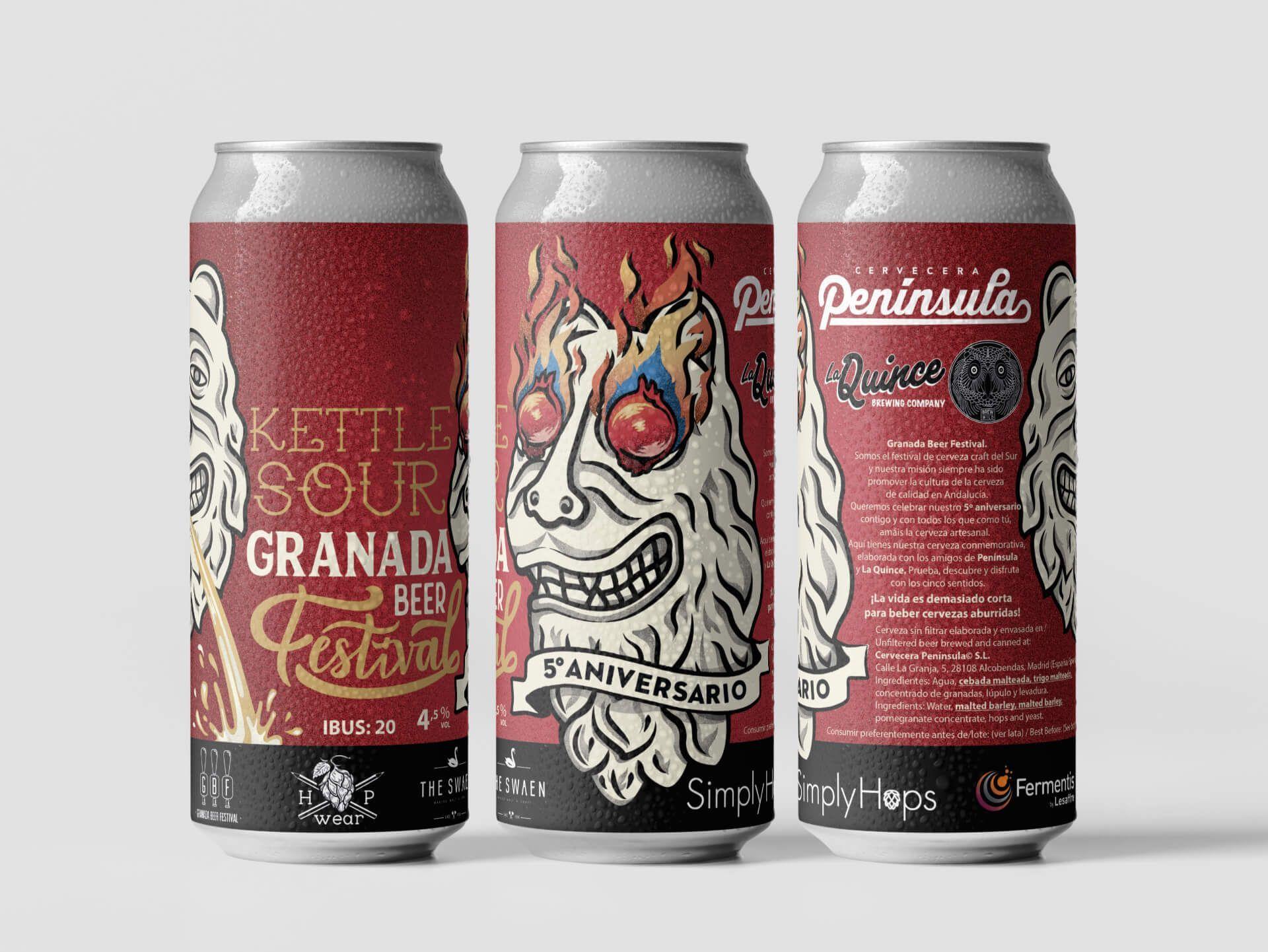 Granada Beer Festival Diseño etiquetas 8